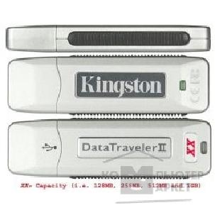 Носитель информации Kingston USB 2.0  USB Memory 256Mb KUSBDTII/ 256