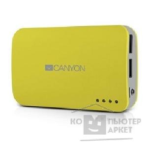 аксессуары Canyon CNE-CPB78Y Yellow color portable battery charger with 7800mAh, micro USB input 5V/ 1A and USB output 5V/ 1A max.