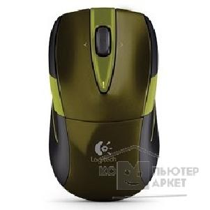 Мышь Logitech 910-002604  Mouse M525 green-black Wireless USB