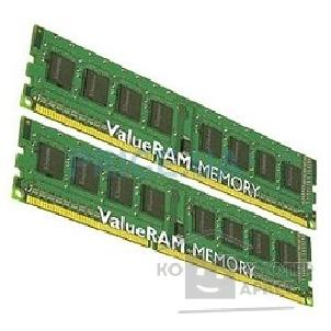 Модуль памяти Kingston DDR-III 4GB PC3-10600 1333MHz Kit 2 x 2GB  [KVR1333D3N9K2/ 4G]
