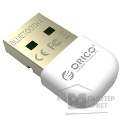 Адаптеры USB Ethernet Orico  Адаптер USB Bluetooth BTA-403 белый