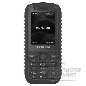 Кенекси KENEKSI P1 black 2.4'' 320x240, up to 16GB flash, 0.3Mpix, 2G, dual sim, BT,800mAh, 90g, 129x59x13,35