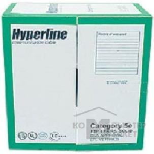 �������������� ����� ���� (�����) Hyperline FTP4-C5E-SOLID-LSZH-GY-305 ������ FTP F/ UTP , ���. 5e, 4 ����, 305� , 24 AWG , ����������� solid , ����� - ������, LSZH Low Smoke Zero Halogen ,�����