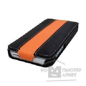 Чехол Canyon CNA-I5L01BO Carefully hand-made protective leather case Black/ Orange , screen protector included