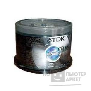 Диск Tdk Диски CD-R 700 Mb 48X/ 52X, 100шт.,75000000465/ CD-R80CBA100 , Cake Box [T18773]