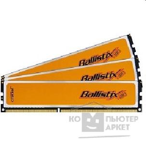 Модуль памяти Crucial DDR-III 6GB PC3-12800 1600MHz Kit 3 x 2GB  [BL3KIT25664BN1608] Ballistix CL8