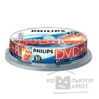 Philips Диски  DVD+R DL 8.5Gb, 8x, Cake Box 10шт.