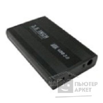 "Контейнер для HDD Orient 3525U3 Внешний контейнер , USB 3.0 External Case 3.5"" SATA HDD до 4TB , с внешним БП 12V, черный алюминий"