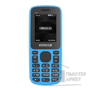 Кенекси KENEKSI E1 Blue, 1.77'' 128x160, up to 16GB flash, 2 Sim, 2G, BT, 650mAh, 68g, 108,8x45,5x14
