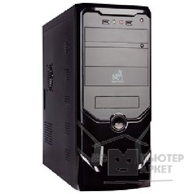 Корпус SuperPower MidiTower SP 6248-CA 600W, ATX, Black-Silver, 4*SATA, PCI-E, AirDuct, USB2.0
