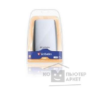 носители информации Verbatim HDD 500Gb  USB2.0 Portable HDD [47630] Silver