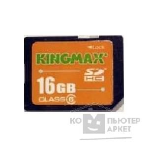 Карта памяти  Kingmax SecureDigital 16Gb , Class 6 SDHC