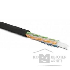 Неэкранированная витая пара Hyperline UUTP4-C6-S23-OUT-LSZH-BK-500 UTP4-C6-SOLID-OUTDOOR-LSZH-BK-500  500 м Кабель витая пара U/ ­UTP,кат. 6, 4 пары 23 AWG , одножил. solid ,с разделителем,внешний, LSZH нг С -HF, -40°C – +75°C,