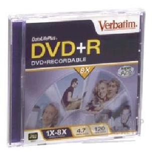 Диск Verbatim DVD+R 8x, 4.7 Gb Printable surface, , Jewel Case 43275/ 43274