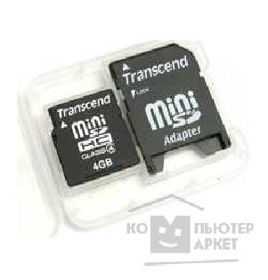 Карта памяти  Transcend Mini SecureDigital 4Gb , TS4GSDMHC4, Class4