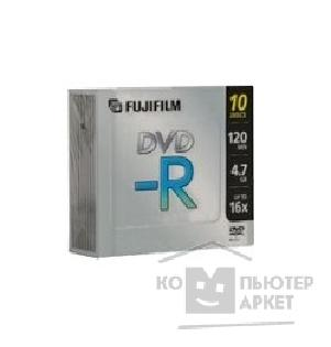 Диск Fuji 48343 Диски DVD-R film 4.7Gb, 16x, Slim Case 10шт.