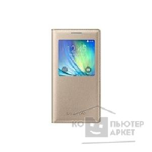 Samsung Чехол для  Galaxy A5 S-View gold SAM-EF-CA500BFEGRU