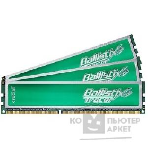 Модуль памяти Crucial DDR-III 6GB PC3-12800 1600MHz Kit 3 x 2GB  [BL3KIT25664TG1608] Ballistix CL8 Green Led