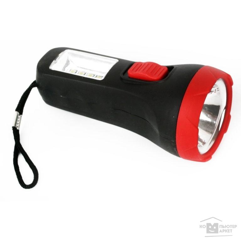 Ultraflash Фонари Ultraflash LED16014  фонарь, черный, 1 + 4SMD LED, 2 реж, 1XR6, пласт, блист-пакет /Ultraflash Фонари Ultraflash LED16014  фонарь, черный, 1 + 4SMD LED, 2 реж, 1XR6, пласт, блист-пакет