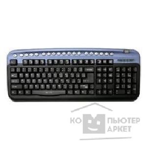 Клавиатура Oklick 330M Multimedia Keyboard PS/ 2 ммедиа + USB порт синий [38339]