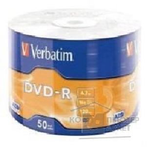 Диск Verbatim Диски DVD-R 4.7Gb, 16-x Data Life 50 шт  43791