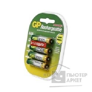 Аккумулятор Gp 100AAAHC3/ 1-2CR4 AAA 1000mAh 3шт +1 шт. в уп-ке