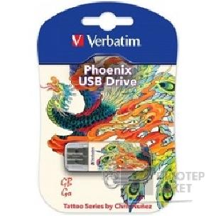 носитель информации Verbatim USB Drive 16Gb Mini Tattoo Edition Phoenix 049887