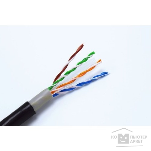 Кабель 5bites US5505-305CE Кабель UTP / SOLID / 5E / 24AWG / COPPER / PVC+PE / BLACK / OUTDOOR / DRUM / 305M