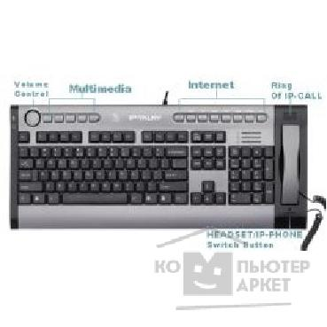 Клавиатура A-4Tech Keyboard A4Tech KIPS-800, USB, проводная Skype кл-ра