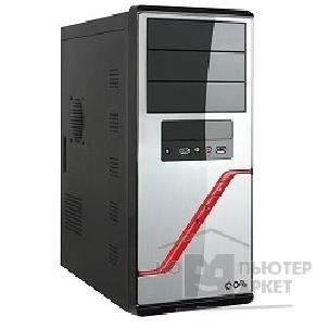 Корпус SuperPower MidiTower QoRi-3342 A11 черно-серебр.  450W USB/ Audio/ SATA ATX front panel metall