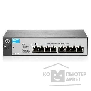 Сетевое оборудование Hp J9802A  1810-8G Switch WEB-Managed, 8*10/ 100/ 1000, Fanless design, desktop