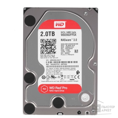 Жесткий диск Western digital 2TB WD Red Pro WD2002FFSX
