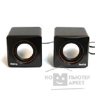 Dialog Colibri AC-04UP BLACK-ORANGE {акустические  колонки 2.0, 6W RMS, пит. от USB}/Dialog AC-04UP AC-04UP BLACK-ORANGE