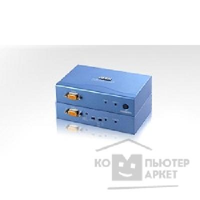 Переключатель Aten CE252-AT-G Удлинитель, SVGA+KBD+MOUSE PS/ 2, 300 метр., 1xUTP Cat5e, HD-DB15+2x6MINIDIN, Female, с KVM-шнуром, Б.П. 220> 9V, макс.разреш. 1600х1200/ 150м;1024x768/ 300м;DDC2B