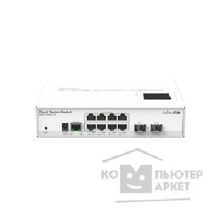 Сетевое оборудование Mikrotik CRS210-8G-2S+IN Cloud Router Switch 210-8G-2S+IN with Atheros QC8519 400Mhz CPU, 64MB RAM, 8xGigabit LAN, 2xSFP+, RouterOS L5, LCD panel, desktop case, PSU