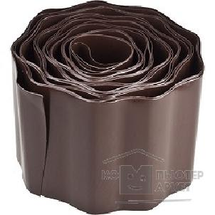 Лента бордюрная Grinda, цвет коричневый, 15смх9м [422247-15]/Grinda 422247-15 422247-15