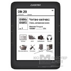 "Электронная книга Digma 787267 Электронная книга  T645 6"" E-Ink HD Pearl capacitive touch 600Mhz 128Mb/ 4Gb/ microSDHC черный"