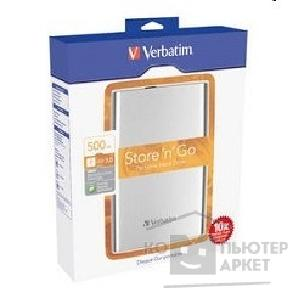 носители информации Verbatim HDD 500Gb  USB3.0 Portable HDD [53017] Silver