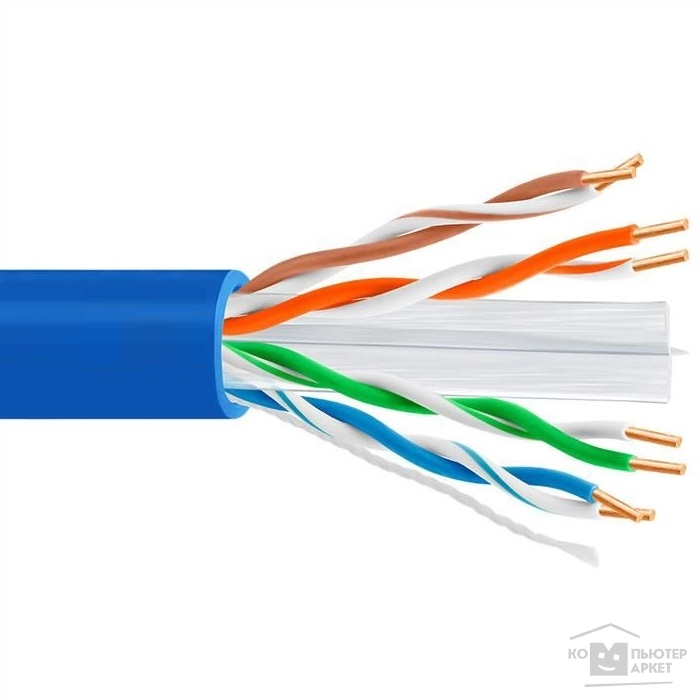 Кабель 5bites US6575-305A BL Кабель UTP / SOLID / 6CAT / 23AWG / CCA / PVC / BLUE / 305M