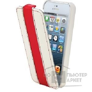 Чехол Canyon CNA-I5L01WR Carefully hand-made protective leather case White/ Red , screen protector included