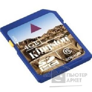 Карта памяти  Kingston SecureDigital 4Gb , SD6/ 4GB CR SDHC
