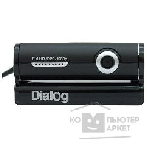 Dialog Веб-камера  WC-33U BLACK-SILVER - 3.0M, Full HD, встр. микрофон, USB 2.0, черно-серебристая