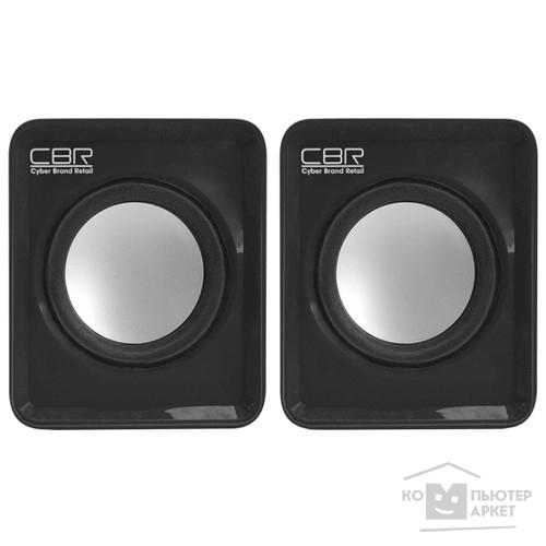 CBR CMS 90 Black, Акустическая система 2.0, питание USB, 2х3 Вт (6 Вт RMS), материал корпуса пластик, 3.5 мм линейный стереовход, регул. громк., длина кабеля 1 м, цвет чёрный/CBR CMS 90 CMS 90 Black