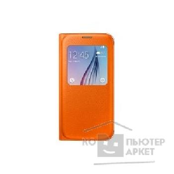 Samsung Чехол для  Galaxy S6 S-View orange SAM-EF-CG920POEGRU