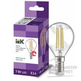 светодиодные лампы  Iek LLF-G45-7-230-40-E14-CL Лампа LED G45 шар прозр. 7Вт 230В 4000К E14 серия 360°  /светодиодные лампы  Iek LLF-G45-7-230-40-E14-CL Лампа LED G45 шар прозр. 7Вт 230В 4000К E14 серия 360°
