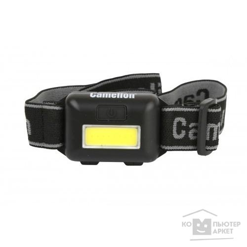 Camelion LED5355  (фонарь налобн, черн.,1Вт COB LED, 3 реж, 3XAAA, пласт, блист)/Camelion LED5355 Э13748