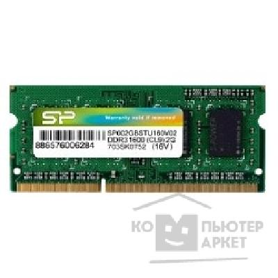 Модуль памяти Silicon Power DDR3 SODIMM 2GB SP002GBSTU160V02