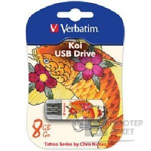 носитель информации Verbatim USB Drive 8Gb Mini Tattoo Edition Fish 049882