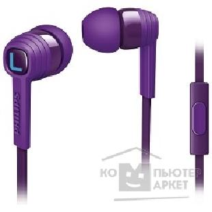 Наушники Philips SHE7055PP/ 00, пурпурный