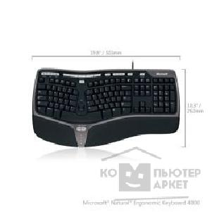 Клавиатура Microsoft Natural Ergonomic 4000 USB Проводная Черный